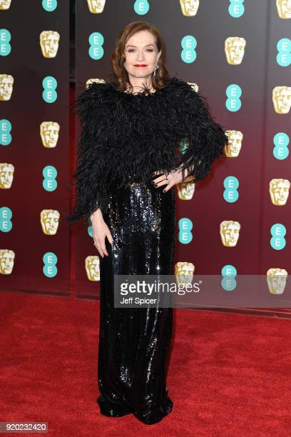 Isabelle Huppert attends the EE British Academy Film Awards held at Royal Albert Hall on February 18 2018 in London England
