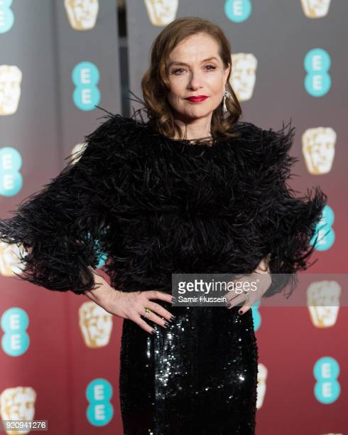 Isabelle Huppert attends the EE British Academy Film Awards held at Royal Albert Hall on February 18, 2018 in London, England.