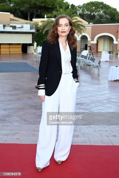 Isabelle Huppert attends the fourth day of Filming Italy Sardegna Festival 2020 at Forte Village Resort on July 25 2020 in Cagliari Italy