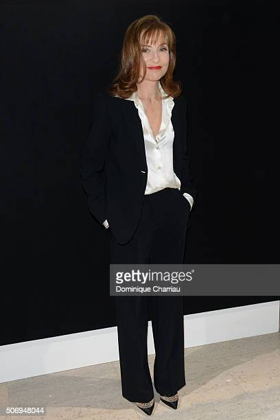 Isabelle Huppert attends the Giorgio Armani Prive Haute Couture Spring Summer 2016 show as part of Paris Fashion Week on January 26 2016 in Paris...