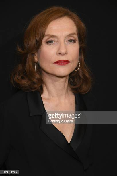 Isabelle Huppert attends the Giorgio Armani Prive Haute Couture Spring Summer 2018 show as part of Paris Fashion Week on January 23 2018 in Paris...
