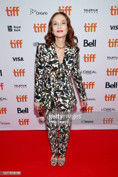 Isabelle Huppert attends the Greta premiere during the 2018 Toronto International Film Festival at Ryerson Theatre on September 6 2018 in Toronto...