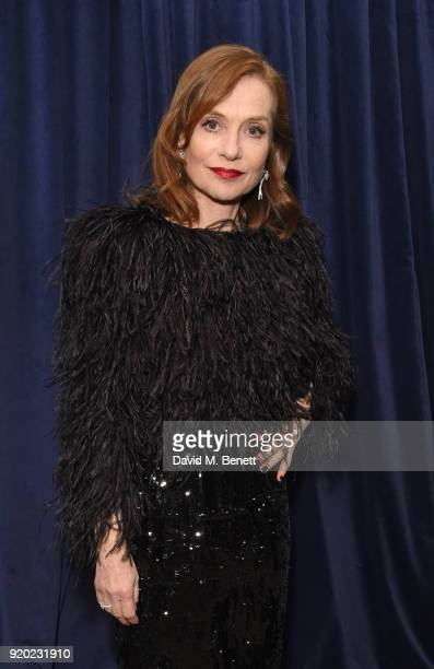 Isabelle Huppert attends the Grey Goose 2018 BAFTA Awards after party on February 18 2018 in London England