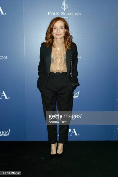 Isabelle Huppert attends The Hollywood Foreign Press Association and The Hollywood Reporter party at the 2019 Toronto International Film Festival at...