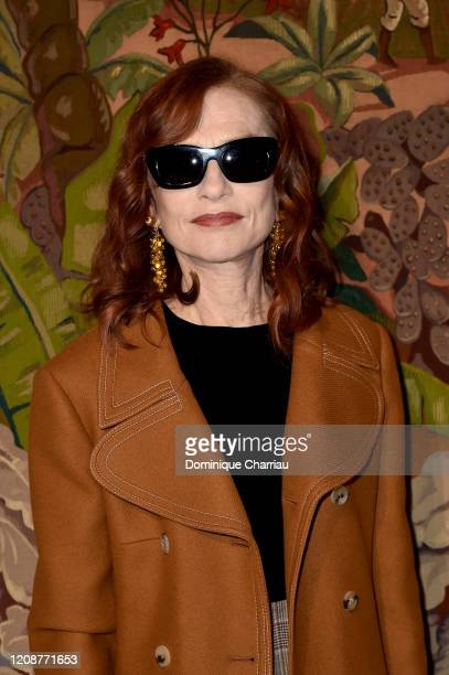 Isabelle Huppert attends the Lanvin show as part of the Paris Fashion Week Womenswear Fall/Winter 2020/2021 on February 26 2020 in Paris France