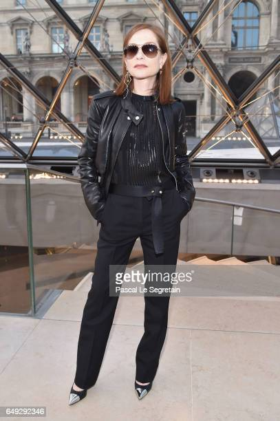 Isabelle Huppert attends the Louis Vuitton show as part of the Paris Fashion Week Womenswear Fall/Winter 2017/2018 on March 7 2017 in Paris France