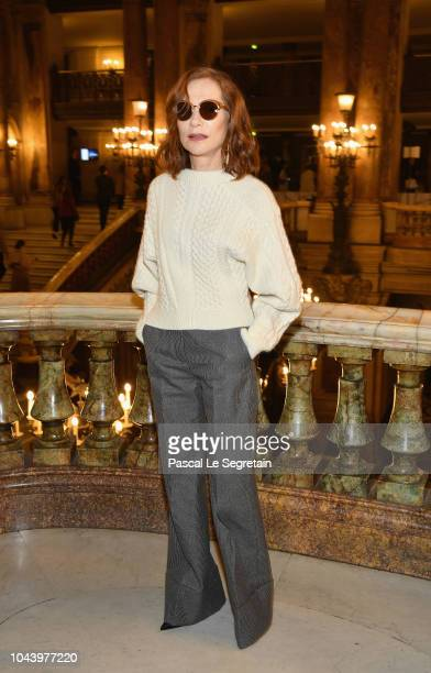 Isabelle Huppert attends the Stella McCartney show as part of the Paris Fashion Week Womenswear Spring/Summer 2019 on October 1 2018 in Paris France