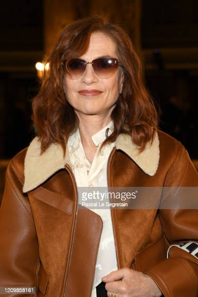 Isabelle Huppert attends the Stella McCartney show as part of the Paris Fashion Week Womenswear Fall/Winter 2020/2021 on March 02 2020 in Paris France