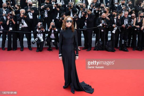 """Isabelle Huppert attends the """"Tout S'est Bien Passe """" screening during the 74th annual Cannes Film Festival on July 07, 2021 in Cannes, France."""