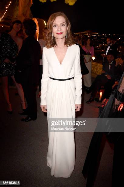 Isabelle Huppert attends the Women in Motion Awards Dinner at the 70th Cannes Film Festival at Place de la Castre on May 21 2017 in Cannes France