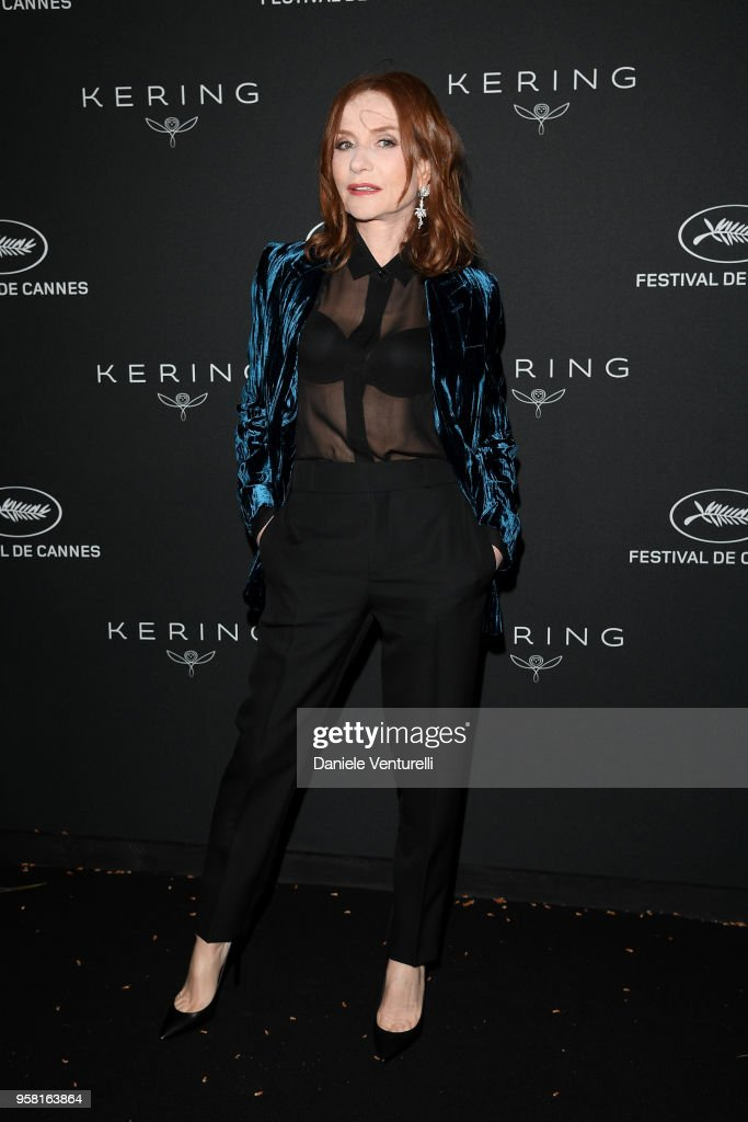 Isabelle Huppert attends the Women in Motion Awards Dinner, presented by Kering and the 71th Cannes Film Festival, at Place de la Castre on May 13, 2018 in Cannes, France.