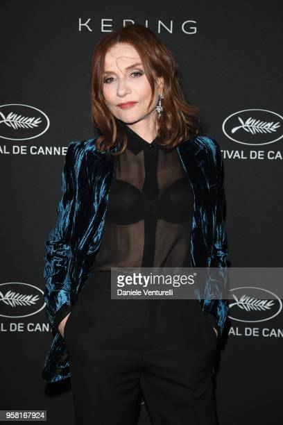 Isabelle Huppert attends the Women in Motion Awards Dinner presented by Kering and the 71th Cannes Film Festival at Place de la Castre on May 13 2018...