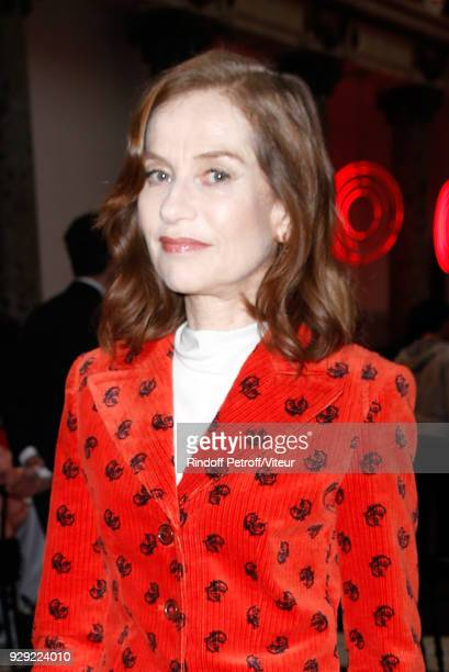 Isabelle Huppert attends 'Woman of the Year Prize' by Chinese Business Club at Pavillon Potel Chabot on March 8 2018 in Paris France