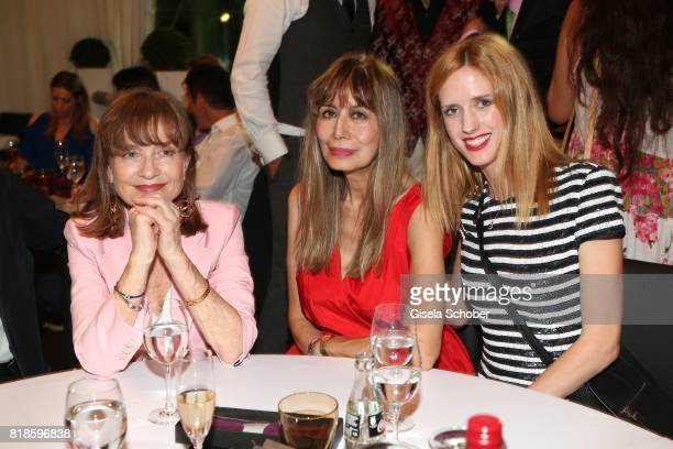 Isabelle Huppert Cassandra Gava and Wilma Elles during the media night of the CHIO 2017 on July 18 2017 in Aachen Germany