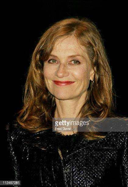 Isabelle Huppert during I Heart Huckabees London Premiere at Odeon Leicester Square in London United Kingdom