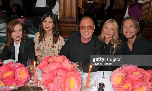 Isabelle Huppert Gemma Chan Michael Kors Kate Moss and Lance LePere attend a private dinner hosted by Michael Kors to celebrate the new Collection...