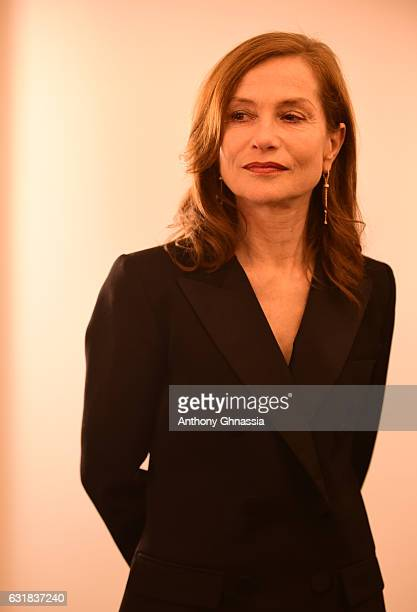 Isabelle Huppert is honored with the French Film Award by Unifrance at Ministere de la Culture on January 16 2017 in Paris France
