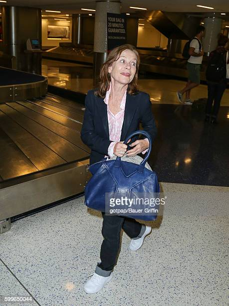 Isabelle Huppert is seen at Los Angeles International Airport on September 05 2016 in Los Angeles California