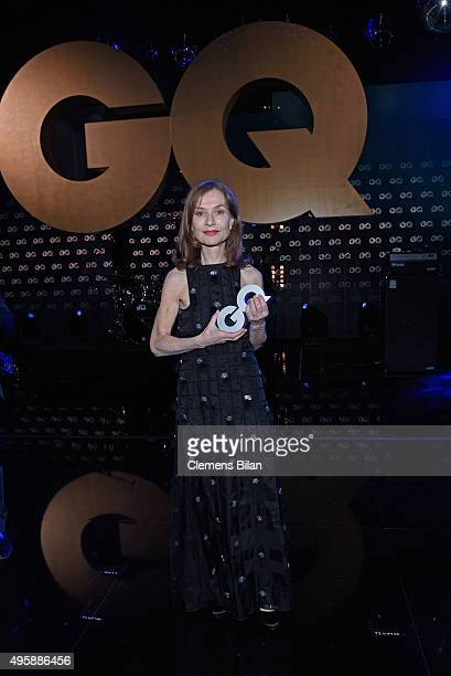 Isabelle Huppert is seen on stage at the GQ Men of the year Award 2015 show at Komische Oper on November 5 2015 in Berlin Germany