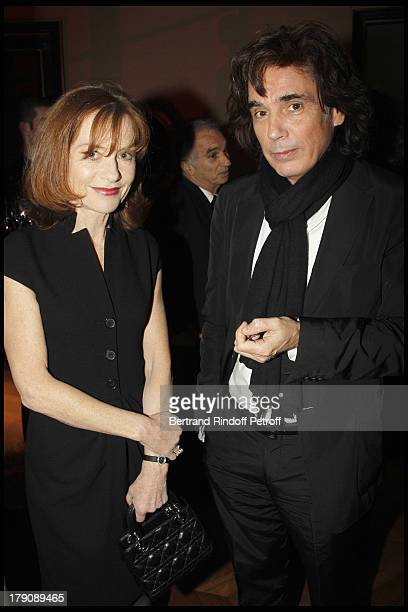 Isabelle Huppert Jean Michel Jarre at The Dior Jewellry Boutique Party at Place Vendome In Paris