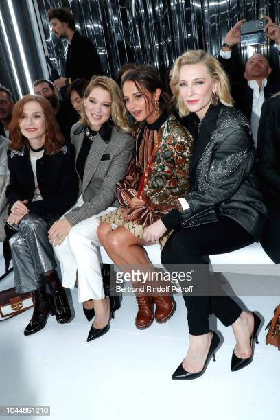Isabelle Huppert Lea Seydoux Alicia Vikander and Cate Blanchett attend the Louis Vuitton show as part of the Paris Fashion Week Womenswear...
