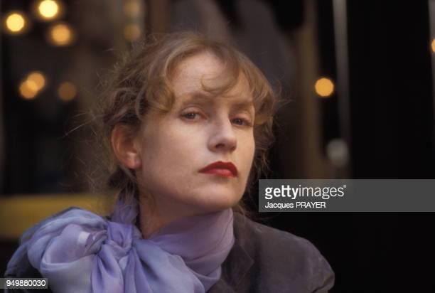 Isabelle Huppert lors du tournage du film 'Malina' de Werner Schroeter le 8 août 1990 en Autriche