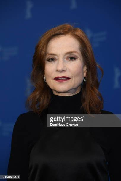 Isabelle Huppert poses at the 'Eva' photo call during the 68th Berlinale International Film Festival Berlin at Grand Hyatt Hotel on February 17 2018...