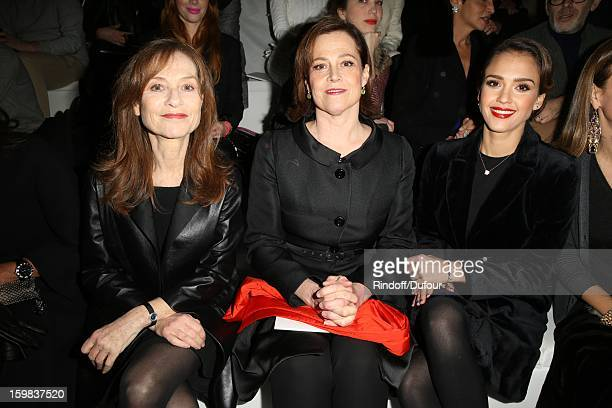 Isabelle Huppert Sigourney Weaver and Jessica Alba attend the Christian Dior Spring/Summer 2013 HauteCouture show as part of Paris Fashion Week at on...