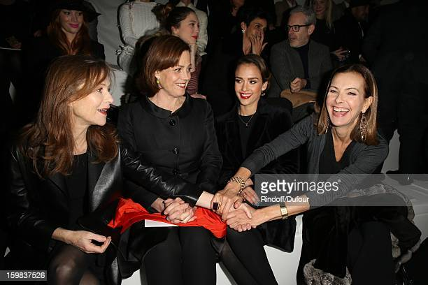 Isabelle Huppert Sigourney Weaver Jessica Alba and Carole Bouquet attend the Christian Dior Spring/Summer 2013 HauteCouture show as part of Paris...