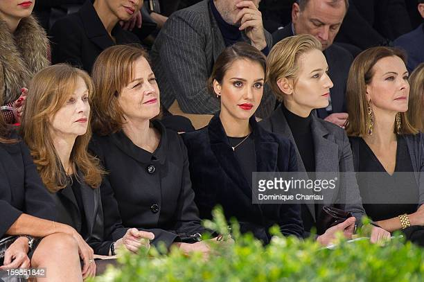 Isabelle Huppert Sigourney Weaver Jessica Alba Leelee Sobieski and Carole Bouquet attend the Christian Dior Spring/Summer 2013 HauteCouture show as...