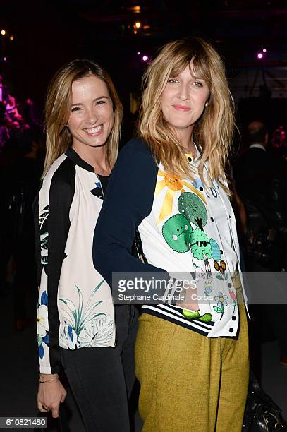 Isabelle Ithurburu and Daphne Burki attend the Etam show as part of the Paris Fashion Week Womenswear Spring/Summer 2017 on September 27 2016 in...