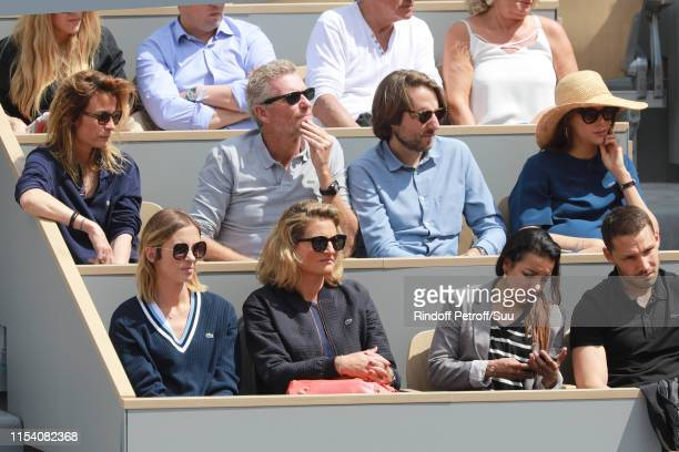 Isabelle Ithurburu Astrid Bard Denis Brogniart with his wife Hortense Brogniart and Ophelie Meunier with her husband Mathieu Vergne attend the 2019...