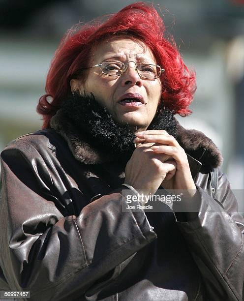 Isabelle Jackson is overcome with emotion at the Gormley Funeral Home while attending the funeral service for John Jay graduate student Imette St...