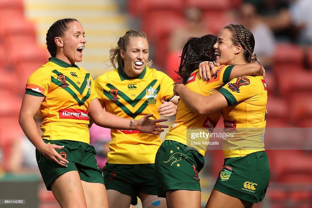 2017 Rugby League Women's World Cup Final - Australia v New Zealand : News Photo