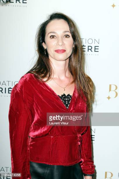Isabelle Le Nouvel attends Skorpios au Loin Theater Play Prize 2018 of Fondation Barriere at Theatre Bouffes Parisiens on October 18 2018 in Paris...