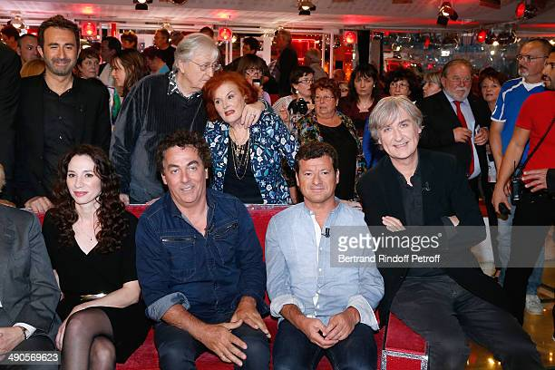 Isabelle Le Nouvel Eric Carriere Francis Ginibre Jean Plantu Mathieu Madenian Louis velle and his wife Frederique Hebrard attend the 'Vivement...