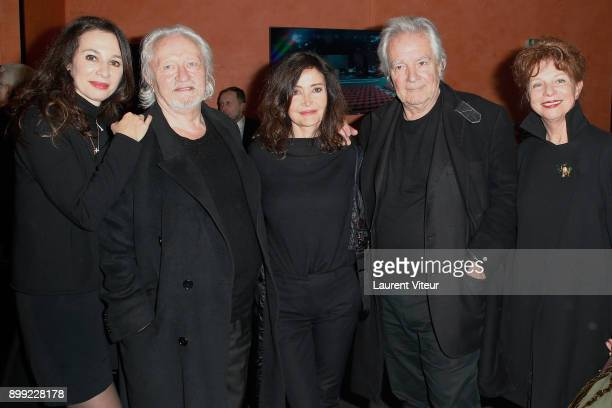 Isabelle Le Nouvel Niels Arestrup Evelyne Bouix Pierre Arditi and Agathe Natanson attend Laurent Gerra Sans Moderation Show at L'Olympia on December...