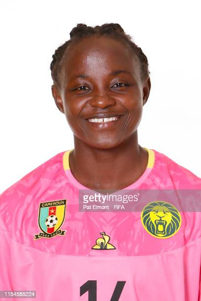 Isabelle Mambingo of Cameroon poses for a portrait during the official FIFA Women's World Cup 2019 portrait session at Crowne Plaza Montpellier Corum...