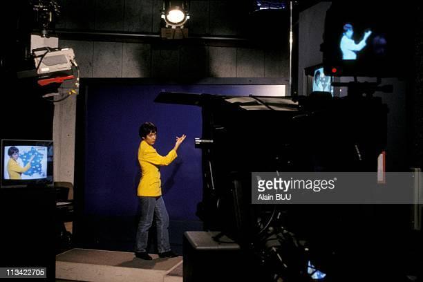 Isabelle Martinet France 2 Tv Meteorological Presenter On October 1st 1993