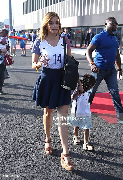 Isabelle Matuidi wife of Blaise Matuidi attends the UEFA Euro 2016 semifinal match between Germany and France at Stade Velodrome on July 7 2016 in...