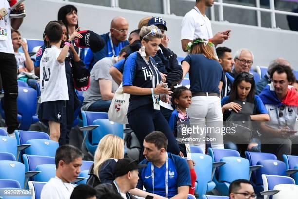 Isabelle Matuidi wife of Blaise Matuidi during 2018 FIFA World Cup Quarter Final match between France and Uruguay at Nizhniy Novgorod Stadium on July...