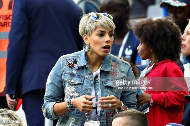 Isabelle Matuidi wife of Blaise Matuidi of France attends the 2018 FIFA World Cup Russia Semi Final match between Belgium and France at Saint...