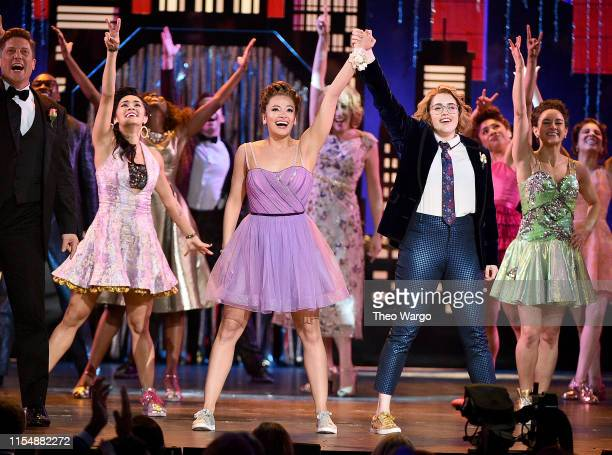 Isabelle McCalla Caitlin Kinnunen and The cast of The Prom perform onstage during the 2019 Tony Awards at Radio City Music Hall on June 9 2019 in New...