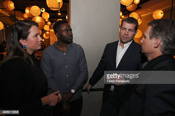 Isabelle McTwigan of DuJour Media Kirk Black of Shinola Chicago Jacques Panis president of Shinola and Jason Binn founder of DuJour Media attend...