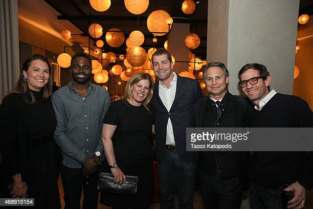Isabelle McTwigan project manager at DuJour Media Kirk Black general manager of Shinola Store Chicago Jill Katz of JKLS PR Jacques Panis president of...
