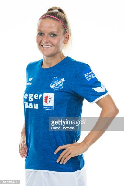 Isabelle Meyer of SC Sand poses during the Allianz Frauen Bundesliga Club Tour on August 22 2017 in Willstatt Germany