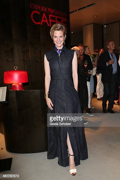 Isabelle Minzi zu HohenloheJagstberg during the Emporio Armani Friends event at the Armani Caffe on July 29 2015 in Munich Germany