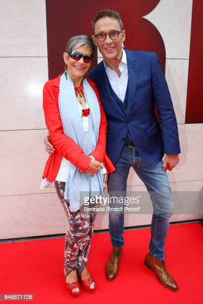 Isabelle MoriniBosc and Julien Courbet attend the RTL RTL2 Fun Radio Press Conference to announce their TV Schedule for 2017/2018 at Elysee Biarritz...