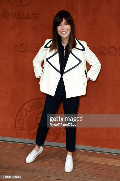 Isabelle Morizet attends the 2019 French Tennis Open Day Nine at Roland Garros on June 03 2019 in Paris France