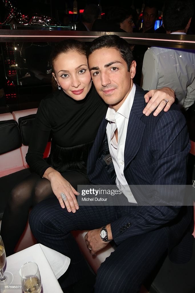 Isabelle Orsini and Prince Edouard De Ligne de La Tremoille attend jeweler Edouard Nahum's 'Maya' collection launch cocktail party at La Gioia on December 4, 2012 in Paris, France.